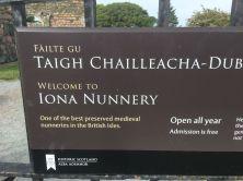 Iona nunnery sign