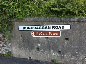 McCaig's Tower street sign