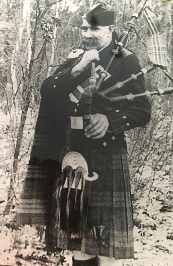 James Macdougall in a kilt