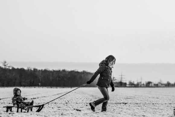 snow people woman girl