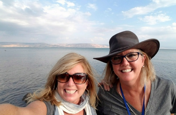 Sea of Galilee Lisa and Laurie