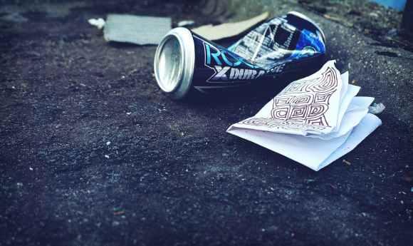 grey beverage bottle