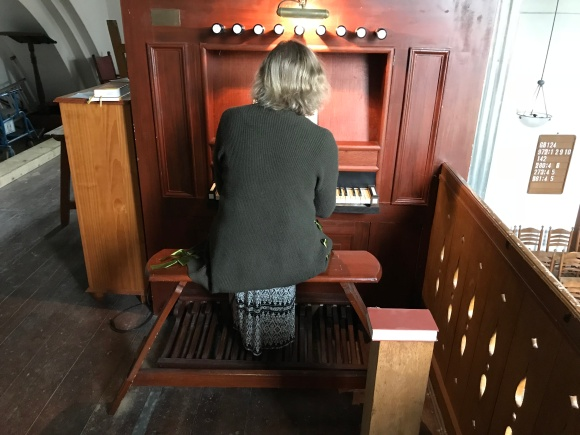 Laurie at organ