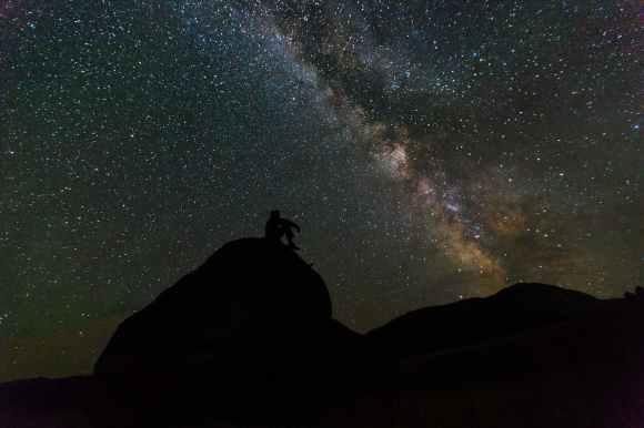 landscape sky night rocks