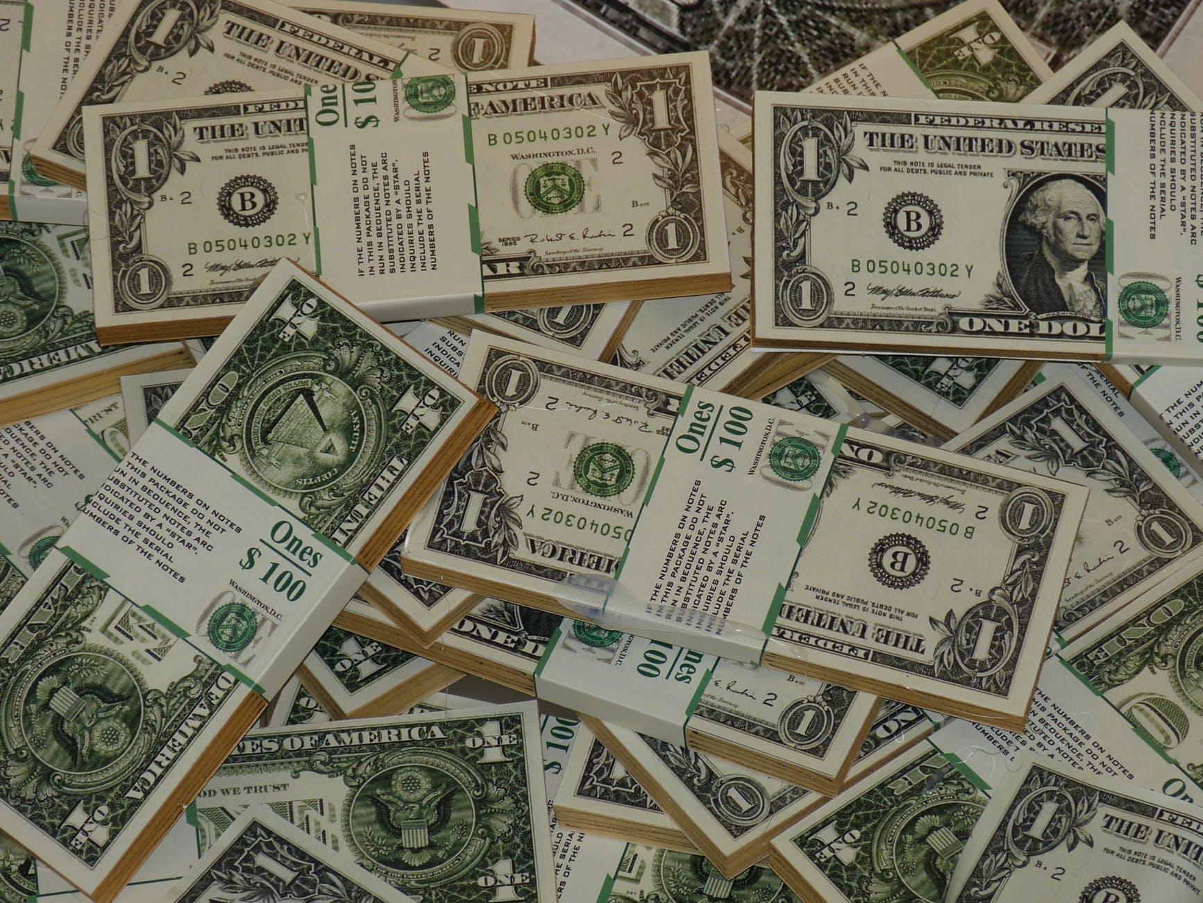 abundance bank bank notes bills
