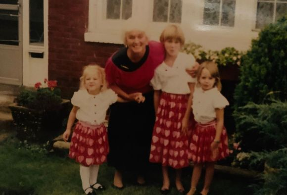 Mom Chapman with granddaughters
