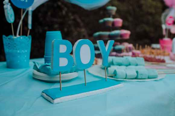 blue boy freestanding decor