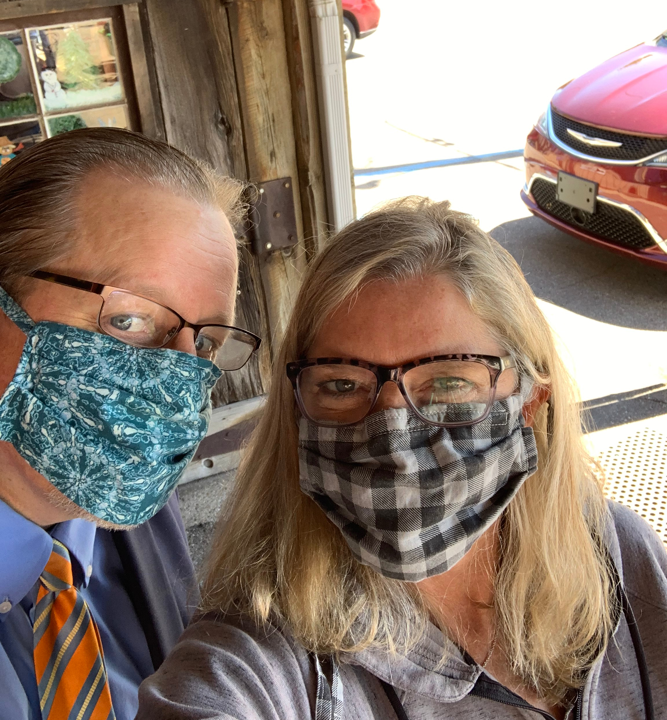 masked garrett and laurie